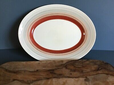 VINTAGE  SUSIE COOPER  WEDDING RINGS SMALL OVAL SERVING PLATE 30.5x 23.7cm Dias. • 0.99£