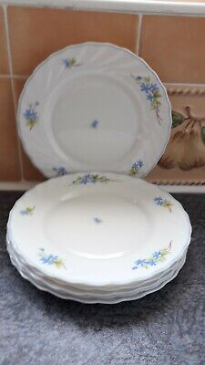 6 Arcopal France Side Plates Decorated With Blue Flowers  • 4.99£