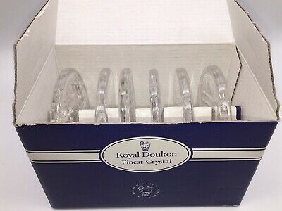 Royal Doulton ~  Lead Crystal Boxed Set Of 6 REFLECTION Coasters • 15.99£