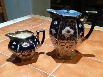 Authur Woods Imari Style Water Jug And Milk Jug Queens AW & S • 12.99£