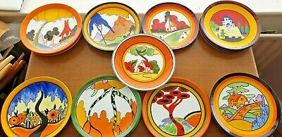 CLARICE CLIFF REPRO PLATES By WEDGWOOD. LTD EDITION ASTD CHOOSE FROM MENU • 18.99£