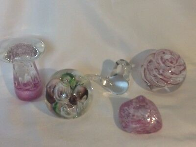 A Fine Quintet Of Langham Glass Paperweights ,mushroom-air Cub Collection-bubble • 29.99£