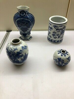Job Lot Chinese ?Oriental UnRecerched Blue And White House Clearnce Rare ?? • 0.99£