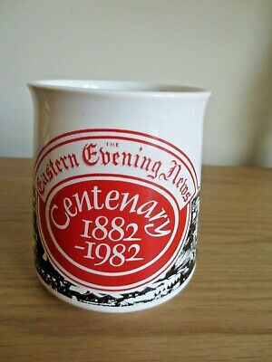 Holkham Pottery Eastern Evening News Norwich Centenary 1982 Mug VGC • 2.99£