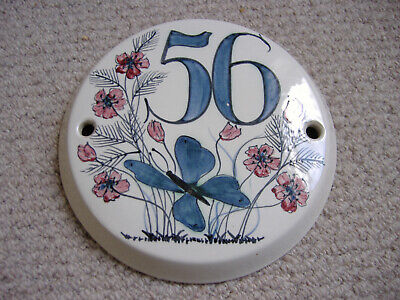 Rare Hand Made Iden Pottery Rye Sussex England House Number Plaque 56  • 26£