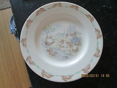 Vintage Royal Doulton Bunnykins Babys Childs Plate By The River 1936 • 4.99£