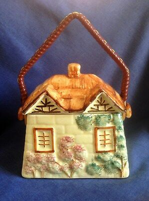 Vintage Paramount Pottery. Cottage Ware. Biscuit Barrel. Hand Painted. • 8£