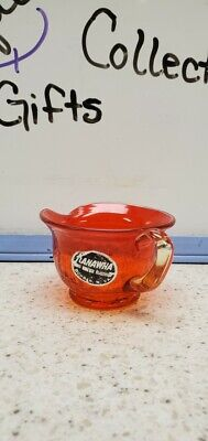 Kannwha Crackle Glass Mini Pitcher-tangerine Orange Applied Handle  • 12.26£