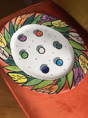 Honiton Pottery- Jane Willingale Hand Painted Oval Plate • 25£