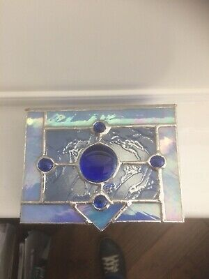 Stained Glass Blue Trinket Box • 17.50£