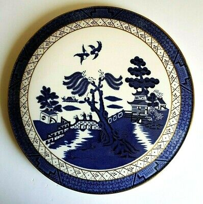 Royal Doulton Booths Real Old Willow Cake Plate TC 1126 Pattern - 27 Cm Diam • 14£