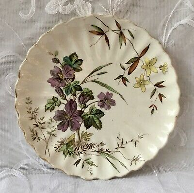 Antique Plate By S. Hancock 'Wild Flowers' • 12£