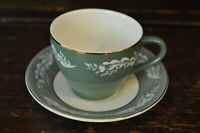 Lord Nelson Pottery Gorgeous Green Coffee Cup And Saucer Duo • 7£