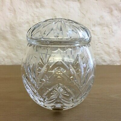Xavier Crystal Storage/Sweet Jar And Lid • 12£