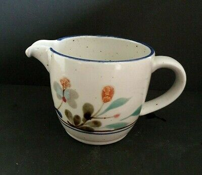 Small Highland Stoneware Hand-painted Milk Jug With Floral Pattern - 9 Cm Tall • 14£