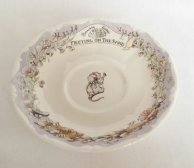 Brambly Hedge Meeting On The Sand Saucer 1st Quality • 25£