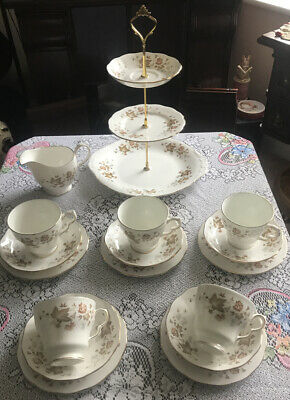 Lovely Vintage Colclough Bone China  Tea Set & 3 Tier Cake Stand New Price • 27£