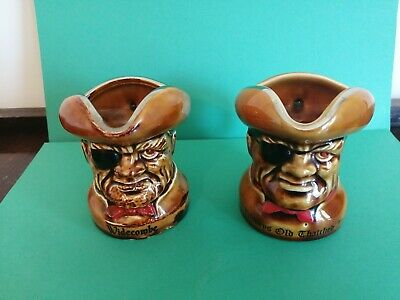 Two Pirate Character Jugs • 6£