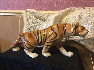 Royal Dux Large Prowling Tiger Figurine  Length 17 Ins • 78£