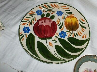 Wade Plate Royal Victoria Floral Tulips 24 Cm Hand Painted Pottery CAPRI  • 5£