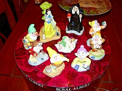 Royal Doulton Snow White & Seven Dwarfs & Wicked Queen Collection • 175£