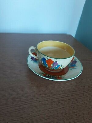 Clarice Cliff Cup And Saucer  • 18£