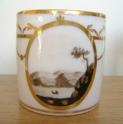 Antique Early C19th English Or French Porcelain Coffee Can Cup Landscape • 14.50£