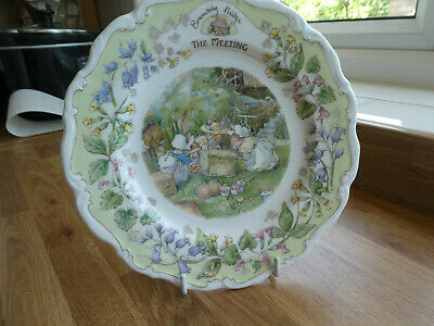 Brambly Hedge Plate - The Meeting - Slight Chip On Rim • 8£