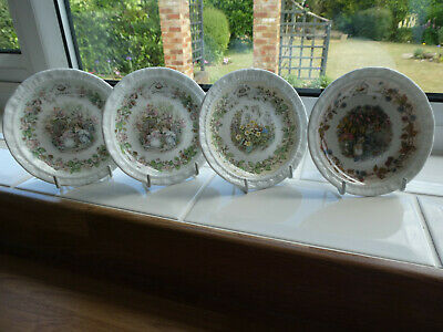 Brambly Hedge Coasters - 2 No. Summer - 1 Autumn - 1 Spring • 18£