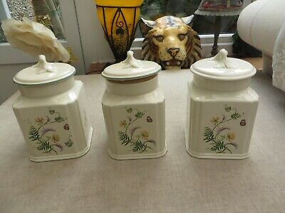 Set 3 Royal Winton The Country Diary Collection Storage Jars Summer Meadow    • 20£