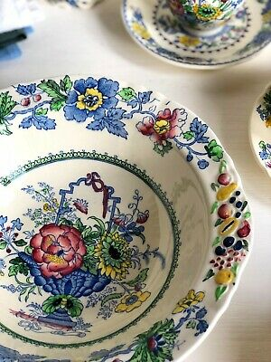 Vintage 'Regency' MASONS SALAD BOWL Vegetables Serving Dish Blue Transferware • 16£