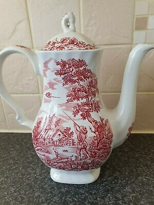 Vintage Teapot Coffee Pot Jug The Hunter By Myott • 11.99£