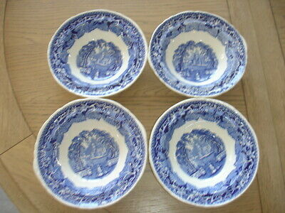 MASONS BLUE VISTA 4 X FRUIT BOWLS • 19.99£