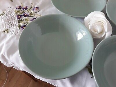 3 X Vintage Woods Ware Beryl Green  Cereal Soup Bowls  Utility Ware • 9.99£