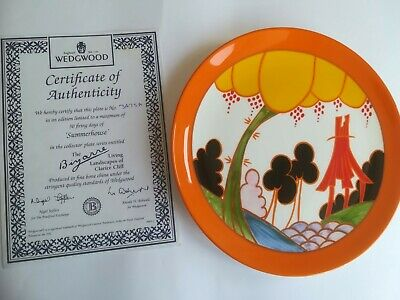 Wedgewood Clarice Cliff Limited Edition Plate: Summerhouse + Certificate • 9.31£