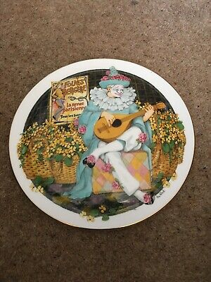 Royal Doulton Behind The Painted Masque Collector Plate Ben Black Clown • 4.99£