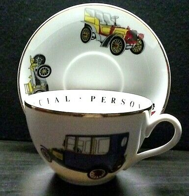 Breakfast Cup And Saucer-fine Porcelain-car Design-a Princess House Exclusive  • 6.95£