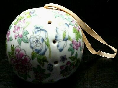Vintage Floral Potpourri Container-china Hanging Ball-ceramic Container-4  Tall • 6.50£