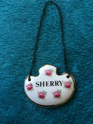 Royal Adderley Floral Bone China Sherry Label Made In England • 2.30£