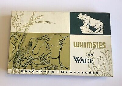 Vintage 1955 Wade Whimsies African Animal Set Boxed Porcelain England No. 4 • 65.60£