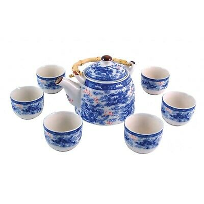 Chinese Porcelain Tea Set - Blue And White - Nine Dragon Pattern - Gift Boxed • 23.50£