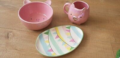 Easter Bowl Plate Mug New • 17£