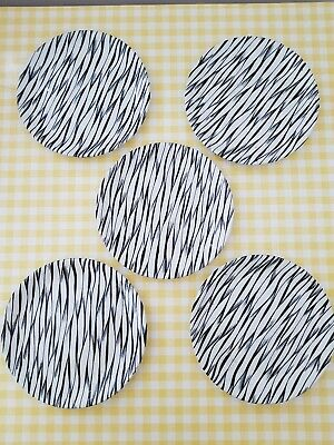 Vintage Retro Alfred Meakin Tea Side Plates 50's Zebra Abstract 50s Mid Century  • 25£