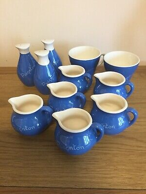 A Collection Of Sandygate Pottery, Devon. Paignton. Blue And White • 10£