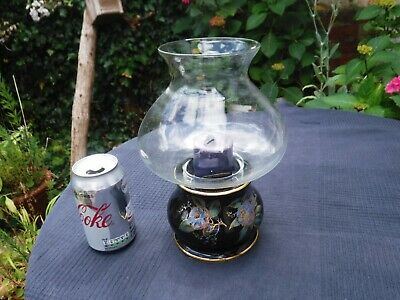 Vintage Prinknash Pottery Candle Holder With Clear Glass Shade • 20£