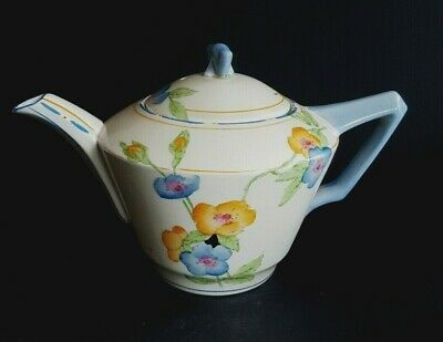 Art Deco Crown Ducal Small Teapot,in The Rosemary Pattern - 1 Pint • 30£