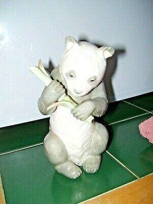 Lovely Panda Figure With Bamboo Figure By Nao / Ladro In Excellent Condition • 24£
