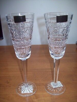2 X WATERFORD CRYSTAL MICHAEL ARAN MA JAIPUR CHAMPAGNE FLUTES Signed NEW  • 50.99£