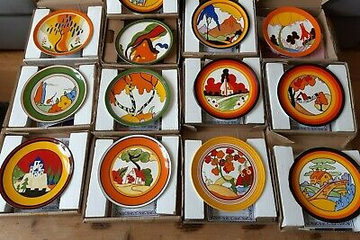 Clarice Cliff 12 X 8  Plates Wedgwood Centenary Ltd Edition  Excellent Condition • 250£