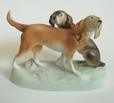 Royal Dux Hunting Dogs Figure - Hounds Figurine  • 120£